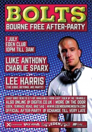 BOLTS - the Bourne Free After Party