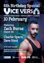 Zach Burns to DJ Vice Versa 6th Birthday Bash